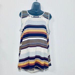 Blu Heaven Crochet Babydoll Dress Sz L